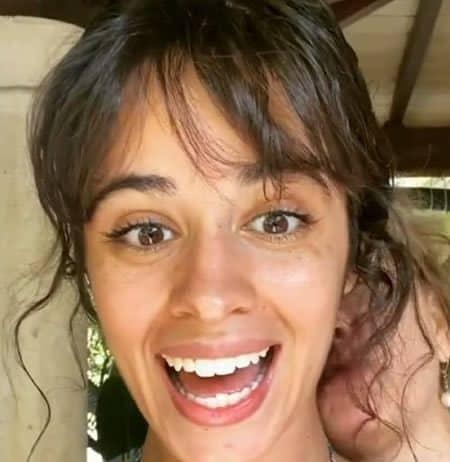 Camila Cabello cheeky selfie