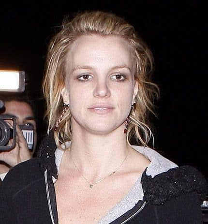 Britney Spears pale face