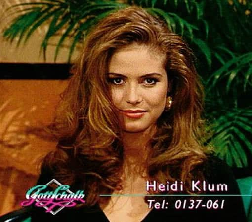 Heidi Klum at 18 years old