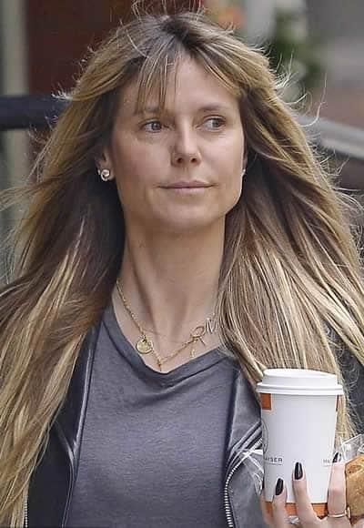 Heidi Klum needs a coffee