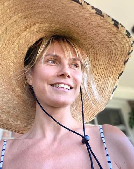 Heidi Klum wearing a Mexican hat