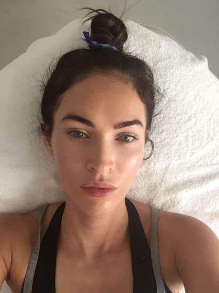 Megan Fox took a selfie after workout
