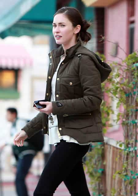 Megan Fox cold winter day out