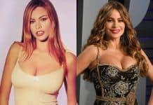 Sofia Vergara boob job before and after photo comparison