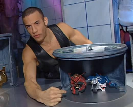 Vin Diesel selling toys on TV