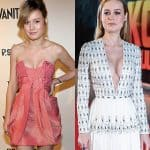 Brie Larson boob job before and after comparison photo