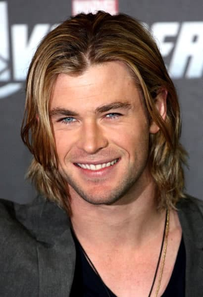 Chris Hemsworth with a deadly smile