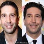 David Schwimmer botox before and after comparison photo