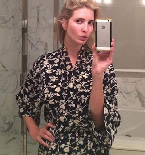 Ivanka Trump can't ignore the magic of the bathroom mirror