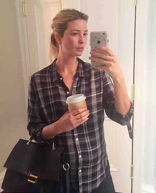 Ivanka Trump getting ready for a casual day out