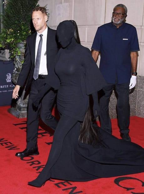 Kim Kardashian Met Gala 2021 covering full body