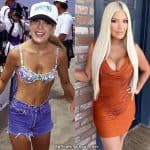 Tori Spelling boob job before and after comparison photo
