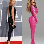 Beyonce butt lift before and after comparison photo