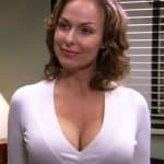 Melora Hardin playing Jan Levinson with fake breasts