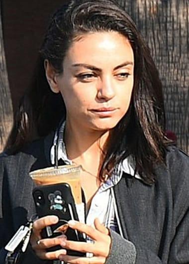 Mila Kunis needs a coffee