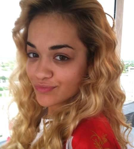 Rita Ora closeup selfie