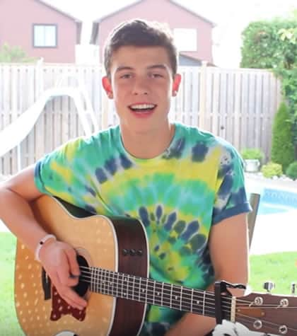 Shawn Mendes starting his singing journey